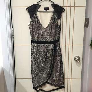 Wayne By Wayne Cooper Lace Wrap Dress Size 8