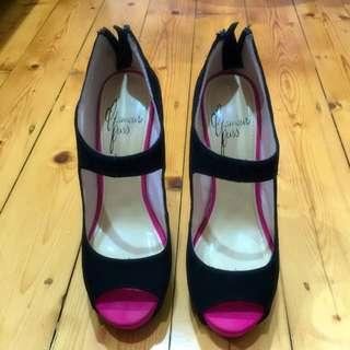 Glamour Puss Size 38 (7) Platform Heels
