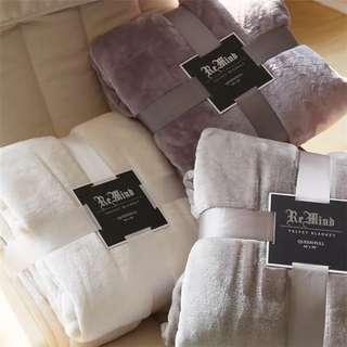 經典色法蘭絨空調毯 #00037