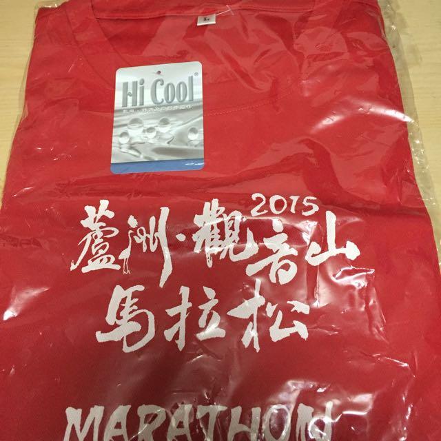 2015蘆洲觀音山馬拉松排汗路跑T(衣)  L號