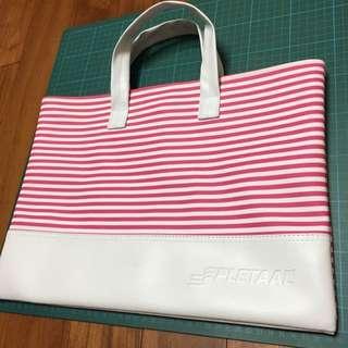 紅白條紋手提包