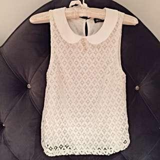 NEW DOTTI Strapless white top