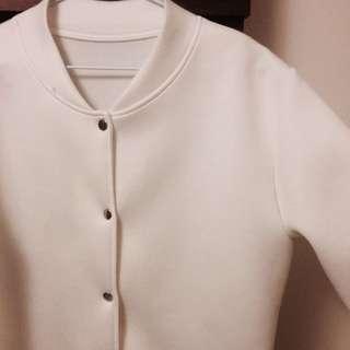 純白太空棉棒球外套