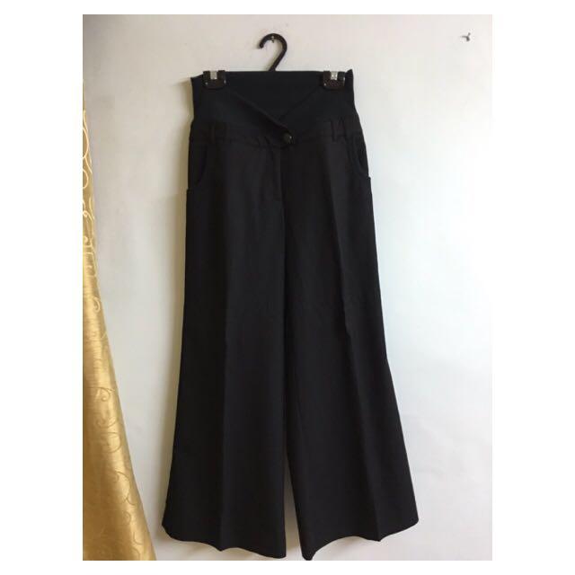 黑色素寬褲