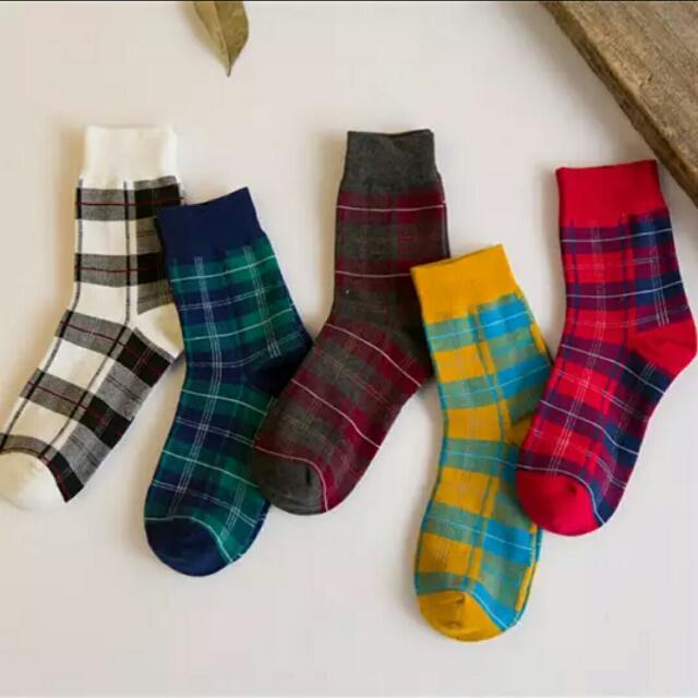 甜美英倫風文藝棉襪