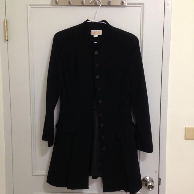 黑色帥氣長版外套