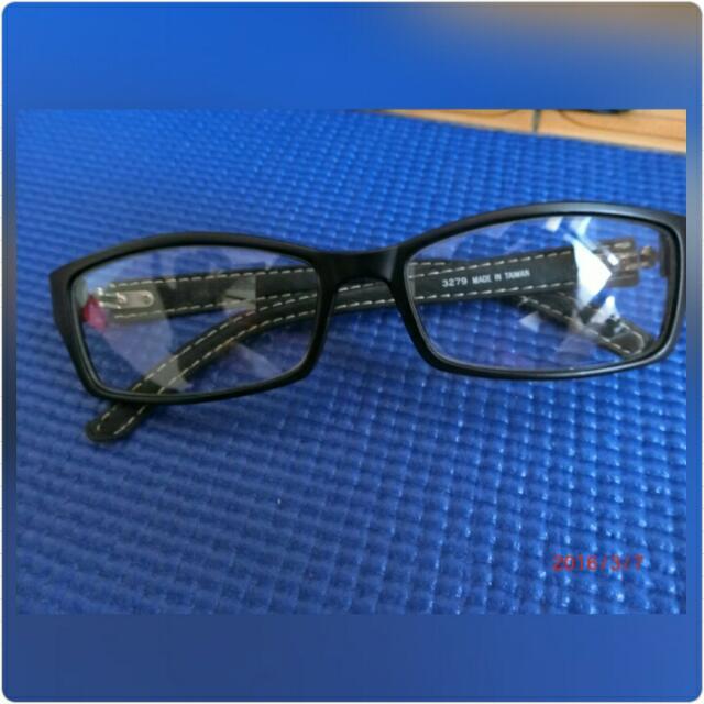 皮革無度數眼鏡