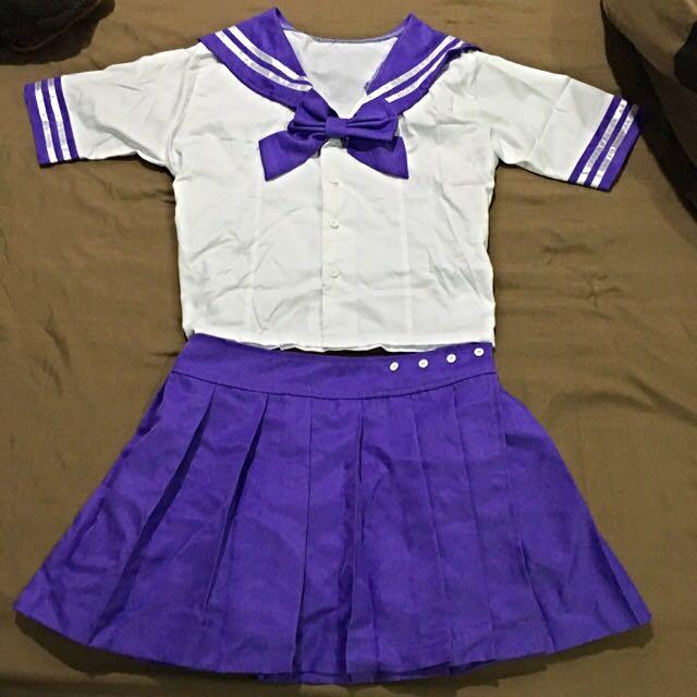 粉色/紫色 百褶裙 水手服 Cosplay 尾牙表演服裝 美少女戰士