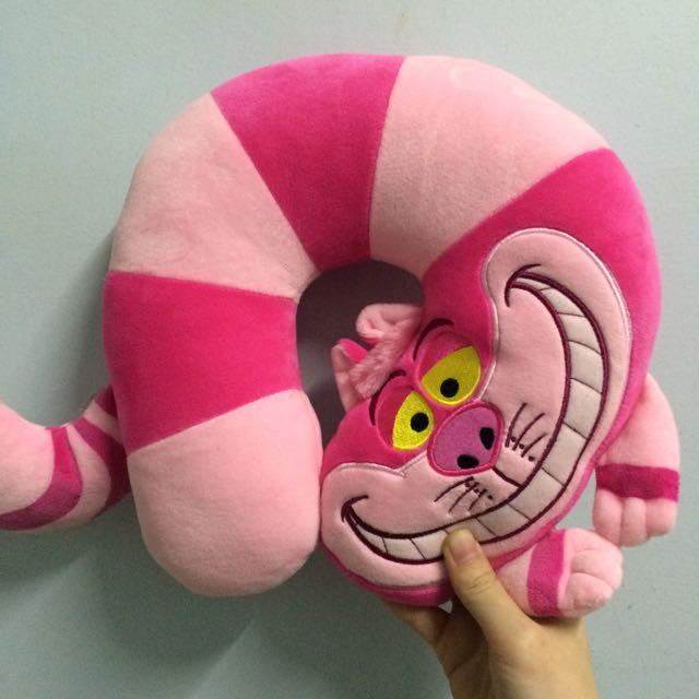 迪士尼 妙妙貓 U枕 靠枕