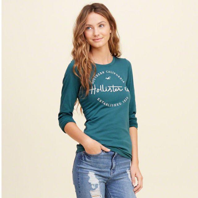{型鹿}[現貨!] HCO Embroidered Shine 刺繡 Tee 土耳其藍色: XS*1 & S*1