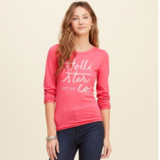 {型鹿}[現貨!] HCO Embroidered Shine 刺繡 Tee 粉紅色: XS*1 & S*1