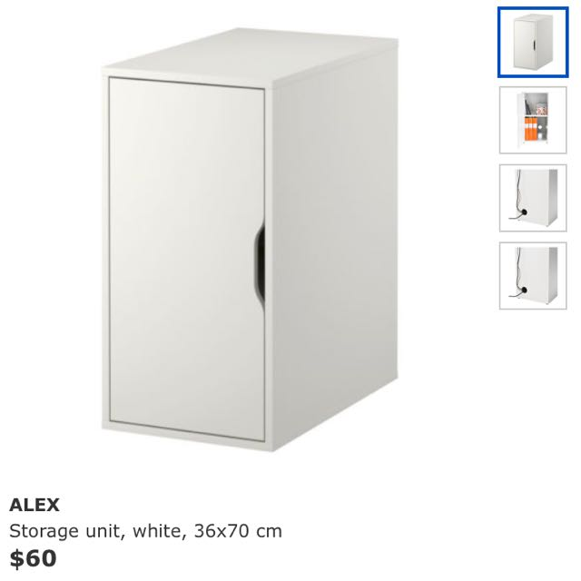 Ikea Alex Storage Unit Home & Furniture on Carousell