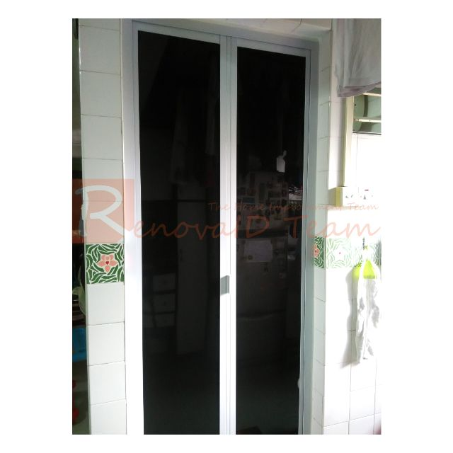 Aluminium Toilet Bi Fold Door Replacement For Hdb Bto And