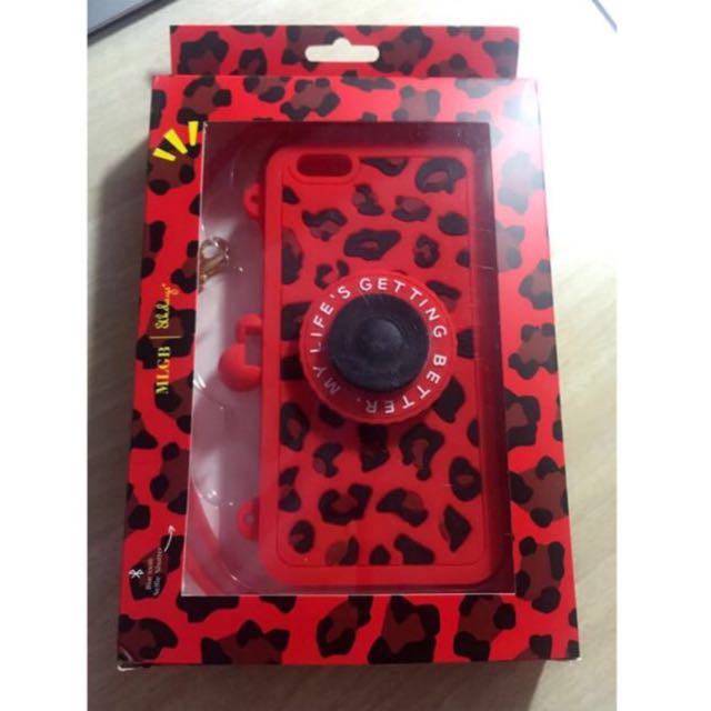 ☆Aly Look☆(5.5吋👉現貨優惠中)紅色創意豹紋相機自拍手機殼for iPhone6plus/6SPlus