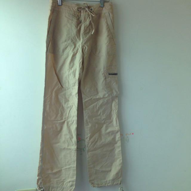 《二手》bossini棉質長褲 米黃 xs