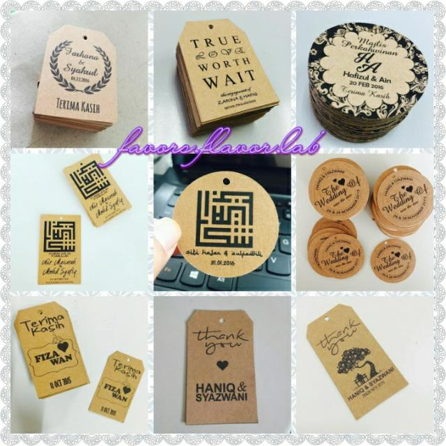 100 PCS Custom Made Any Text Hang Tags Round Shape Personalized Wedding Favor Gift Tags
