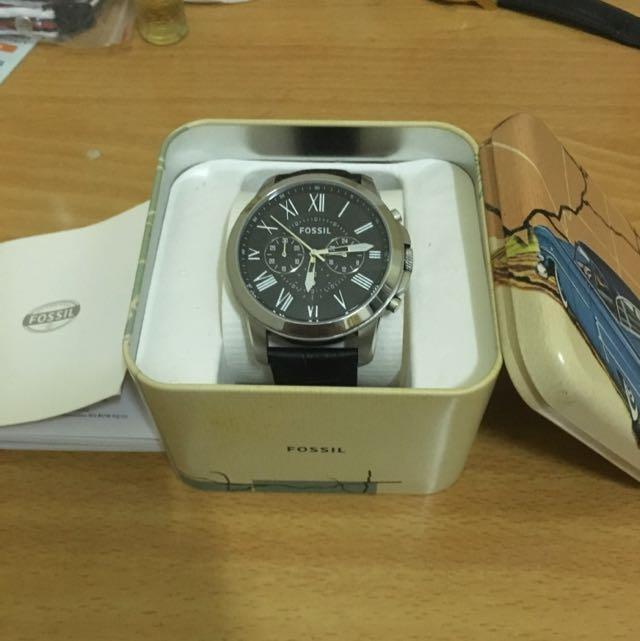 Fossil 飛梭時尚三眼腕錶