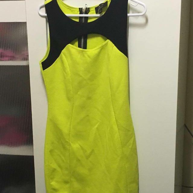 Green/yellow Dress