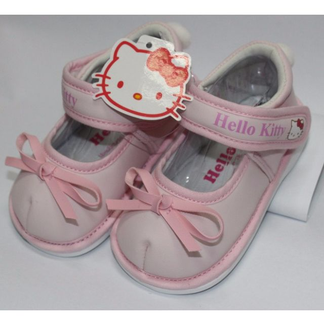 HELLO KITTY BABY SHOES WITH BEEP-PINK K
