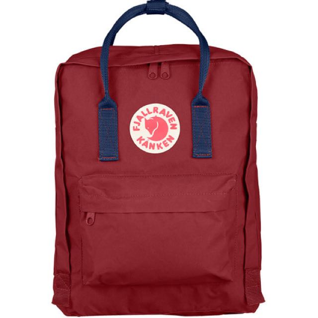 Kanken Backpack In Ox Red And Royal Blue
