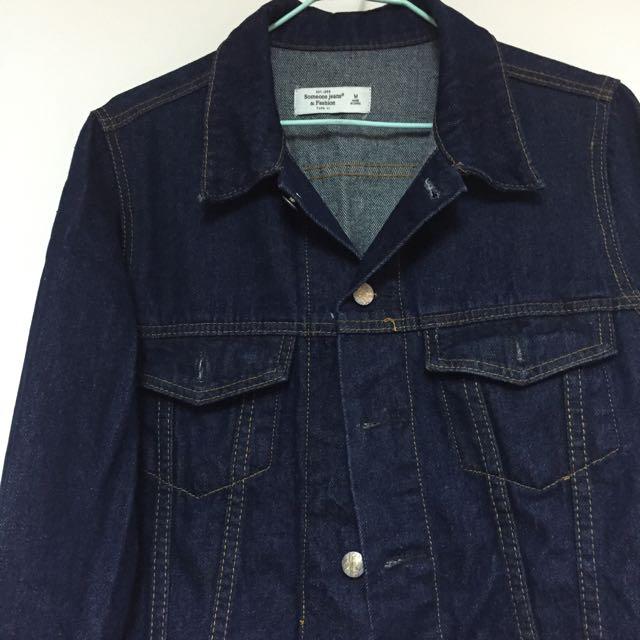 全新✨深藍色牛仔外套M號