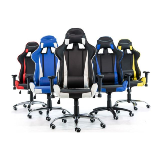 PROMO* Black and orange Gaming Chair/Racer Chair