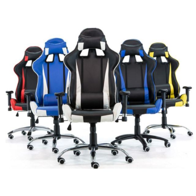 PROMO* Black and red WITH LEG REST Gaming Chair/Racer Chair