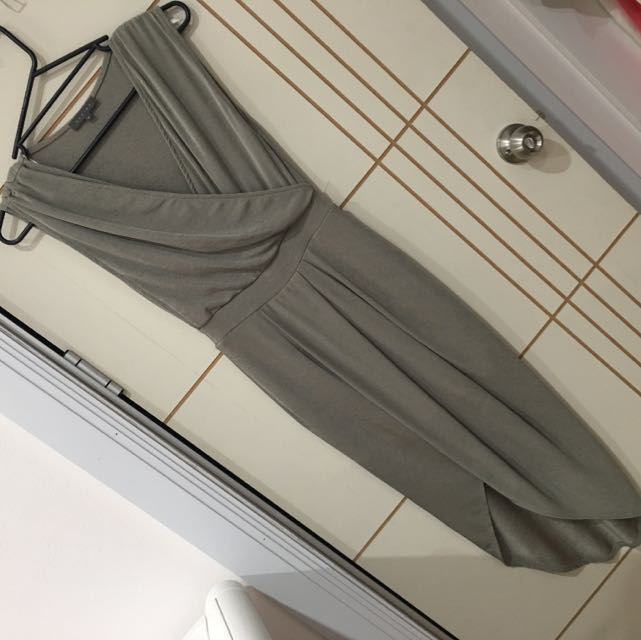 Sheike Mid Length Khaki Coloured Dress Size 6