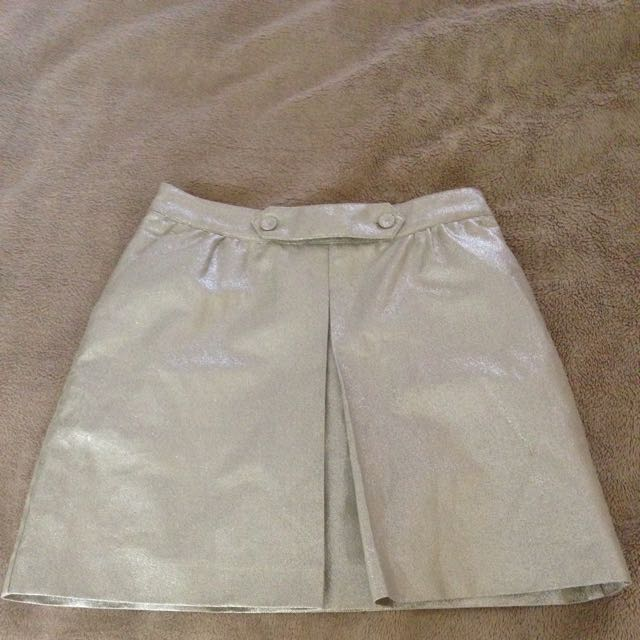 Silver Disco Skirt Rrp$157