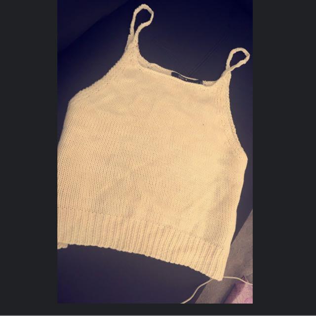 Size 10-12 Paper Heart Knit Crop