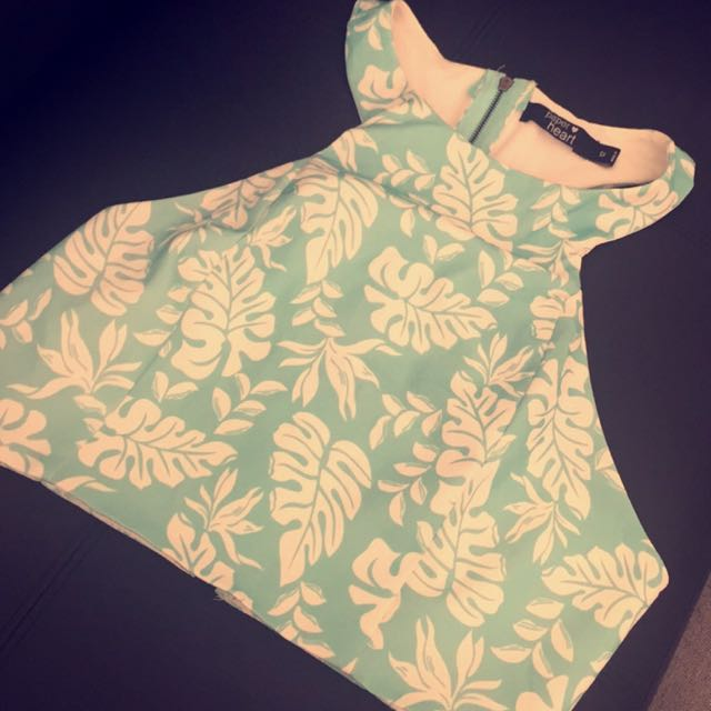Size 12 Paper Hearts Crop Top - Never Worn Out