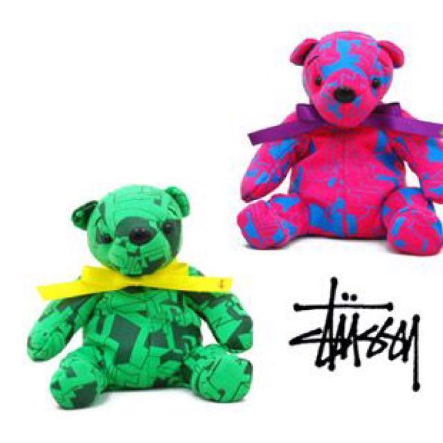 Stussy 2008 絕版小熊 綠