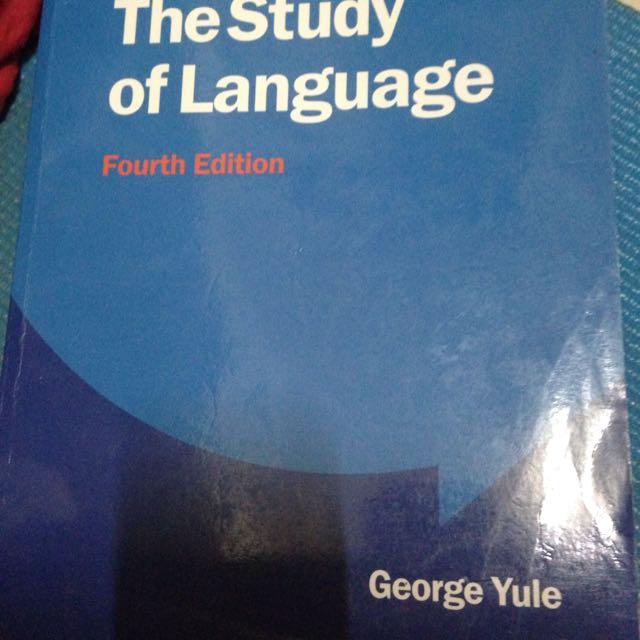 the study of language語言學 原文
