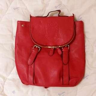 出清✿紅色後背包/學生包✿便宜售