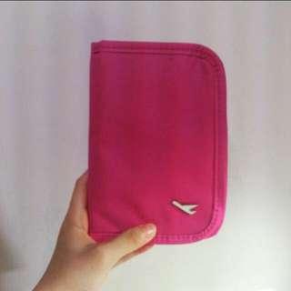 桃紅色 護照夾 全新