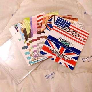 全新✿同人品✿APH義呆利/米英組✿2009-2010月曆卡片✿出清