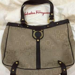 Brand New !! Salvatore Ferragamo Shopping Tote