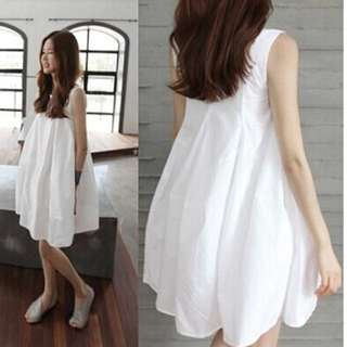 BS三月新品 韓版舒適涼感綿麻寬鬆洋裝孕婦連衣裙S5529