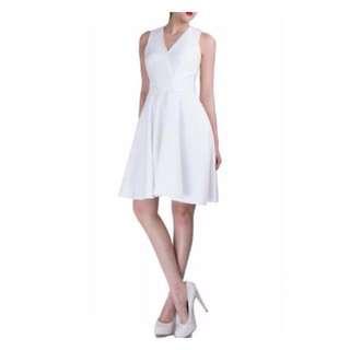 Doublewoot White Skater Dress (Marilyn Monroe's Style
