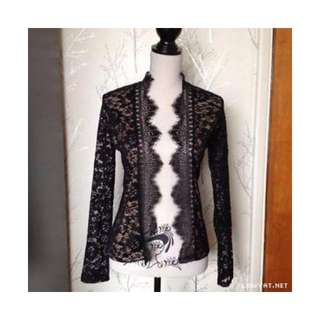 Warehouse Contrast Lace Jacket