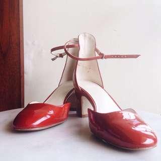 ZARA Basic - Red Blocked Heels
