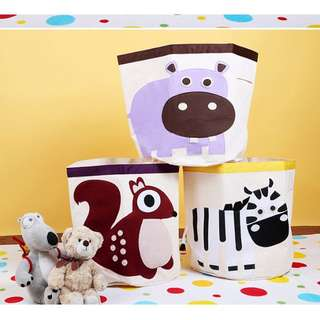 3sprouts可折疊牛津收納箱桶寶寶玩具特大號卡通整理箱帆布收納箱