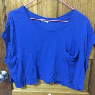 NET寶藍短板上衣