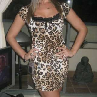 Wheels and Dollbaby leopard print dress