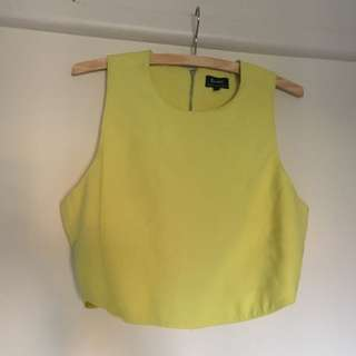 Yellow Bardot Crop Top