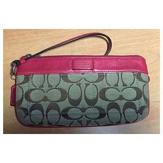 COACH Signature Large Wristlet