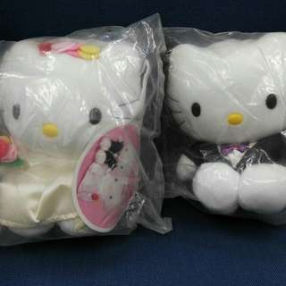 Hello Kitty BB 結婚公仔一對(全新)
