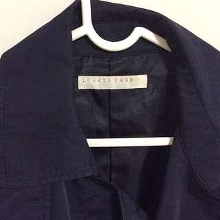 LF藍色風衣外套