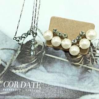 Cordate 優雅小姐,珍珠花環耳環