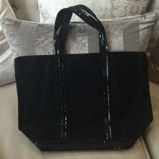 Vanessa Bruno Medium Canvas And Sequins Cabas Bag